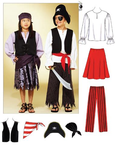 pirate costume patterns on pinterest kwik sew 3804 pirate costumes
