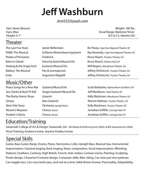 Actor Resume Exles 2015 You Have To Look Actor Resume Exles Before Starting Your Job As A Broadway Resume Template