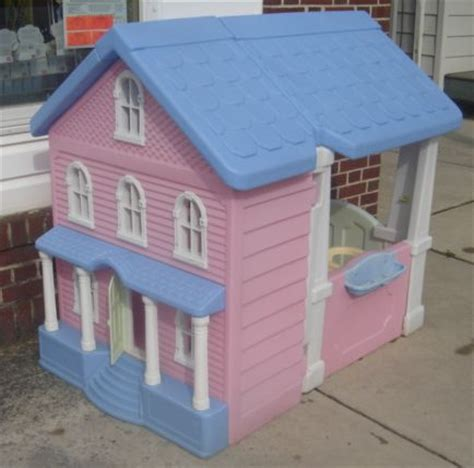 child size doll house little tikes doll house child s play house pink white htf my size barbie ebay