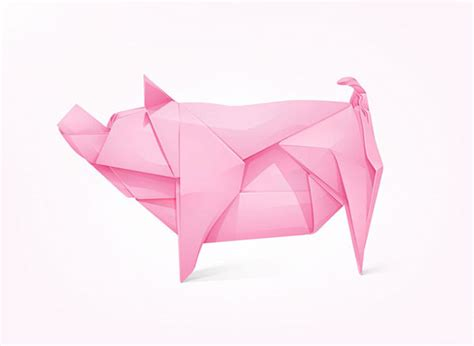 Origami Bank - 20 amazing low poly logo designs web graphic design