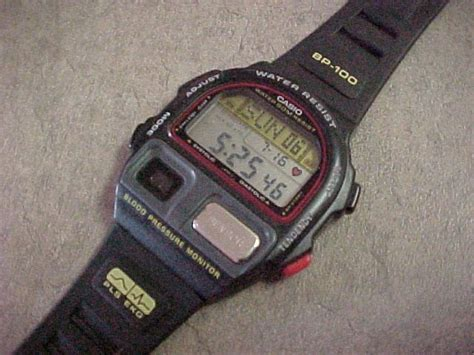 casio bp 100 made in japan casio exercise and fitness bp 100 wristwatch photos