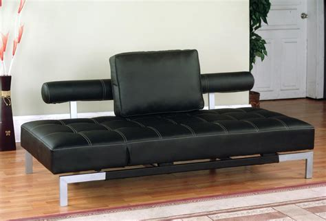 brown leather futon sofa bed iris futon sofa bed lounger in brown or black faux leather
