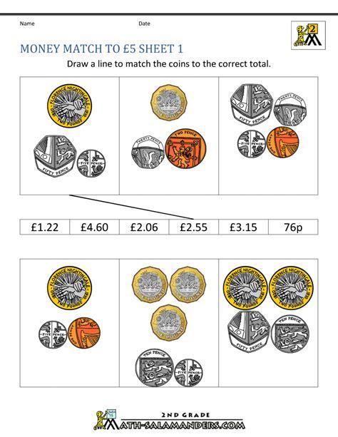 printable childrens money worksheets uk uk money worksheets to 163 5