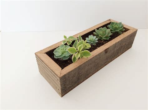 succulent planter box reclaimed wood succulent planter box fivesie
