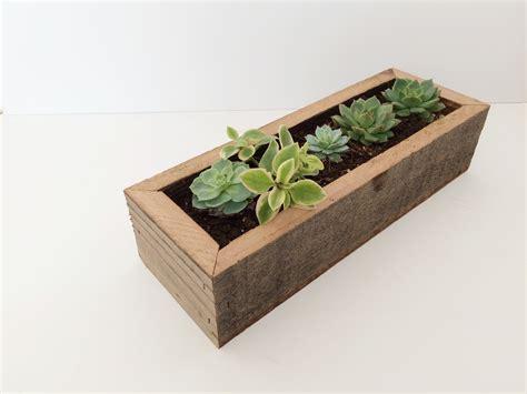 reclaimed wood succulent planter box fivesie