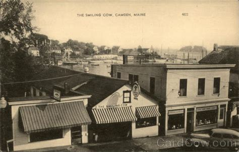 Camden Maine Town Office by The Smiling Cow Camden Me Postcard