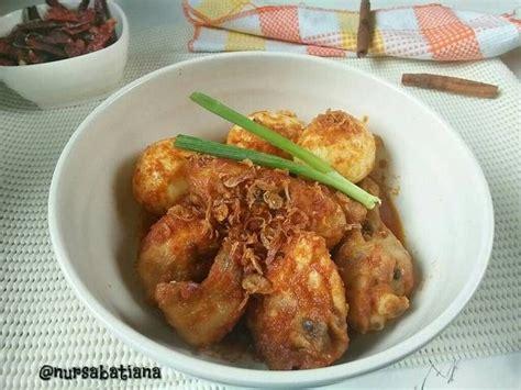 Bebek Goreng H Nur ayam dan telur masak habang by nur sabatiana resep