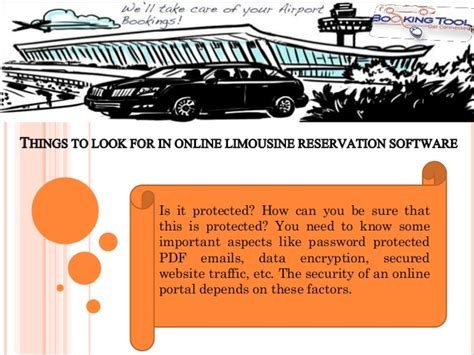 limousine reservation things to look for in limousine reservation software