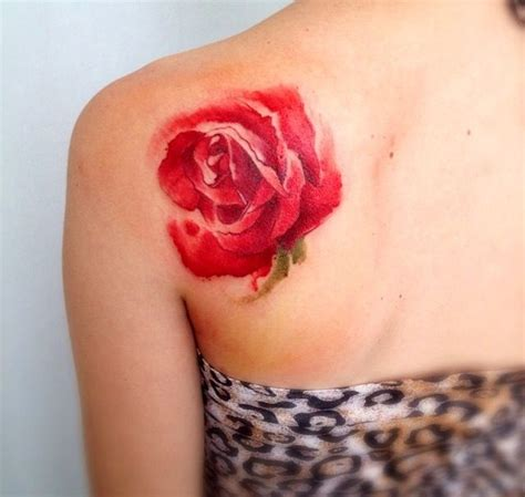 water color rose tattoos watercolor victoroctaviano