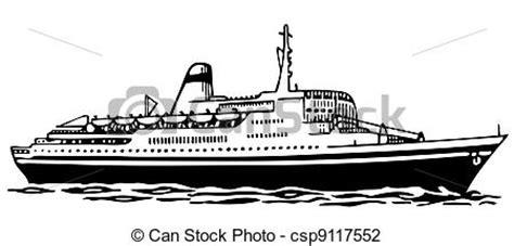barco moderno dibujo ilustra 231 227 o vetorial de cruzeiro navio cruise navio mar