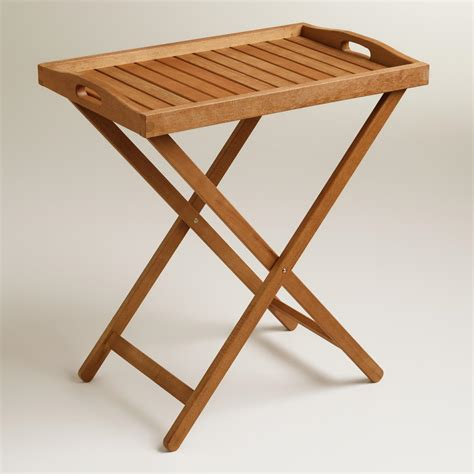 tray tables outdoor wood tray table world market