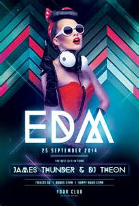edm party flyer 1 psd file print ready 300 dpi cmyk
