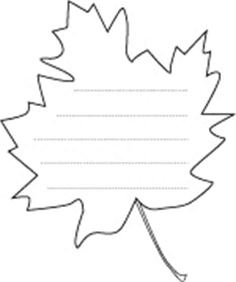 maple leaf shape paper activity sheet