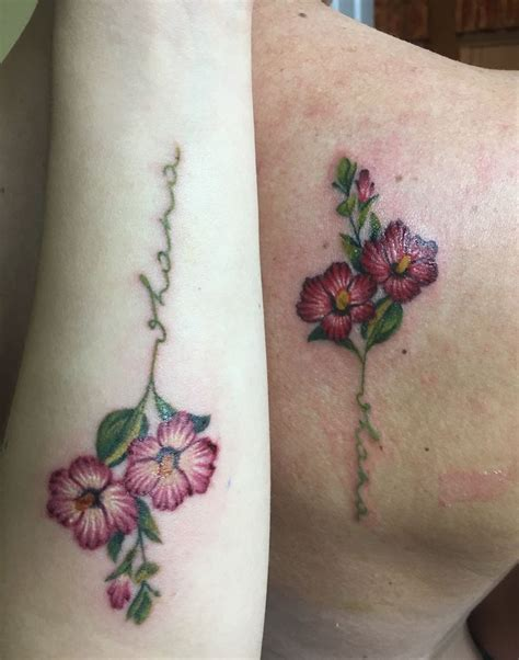 matching mother daughter tattoos the stem says quot ohana