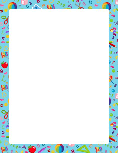 pattern writing frame printable kindergarten border free gif jpg pdf and png
