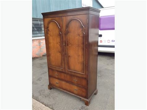 Wardrobe 110cm Wide by Lovely Antique Fitted Wardrobe With Drawers