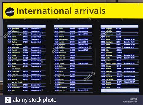 Flight Arrivals And Departures Heathrow International Airport London | england london heathrow airport international arrivals