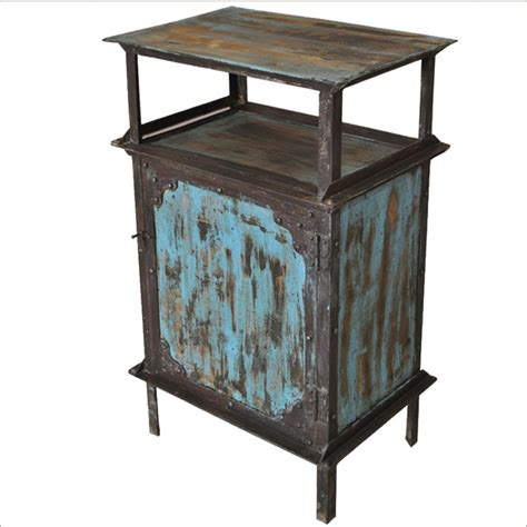 wrought iron bedside table blue wrought iron kitchen cabinet industrial