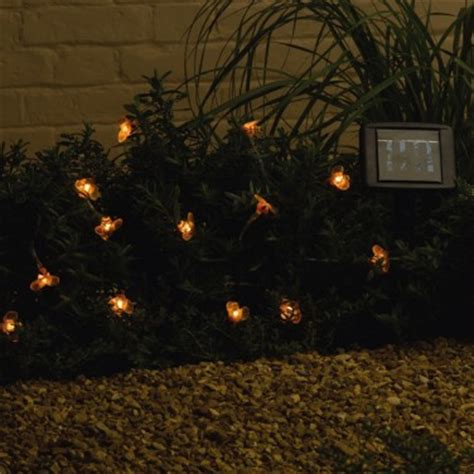 bumble bee string lights solar powered bumble bee garden lights