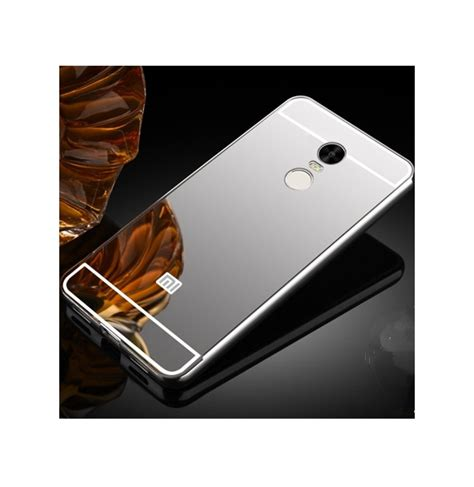 Aksesoris Casing Handphone Bumper Miror Xiaomi Redmi Note 2 Metal luxury plating frame mirror back cover skin bumper for xiaomi redmi note 4