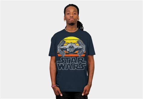 Kaos Fighter Tshirt 02 vintage tie fighter wars t shirt the shirt list