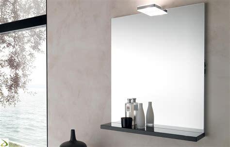 specchio con mensola per bagno specchio bagno con mensola glam arredo design
