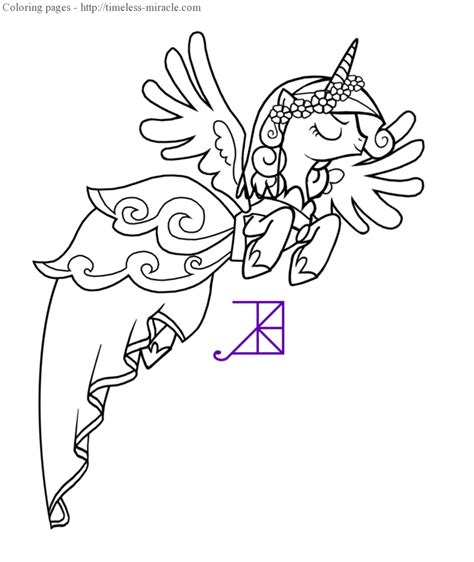 free coloring pages of princess cadence