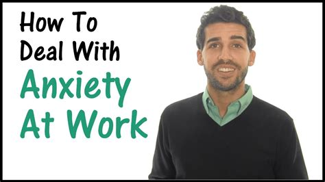 how to deal with anxiety at work