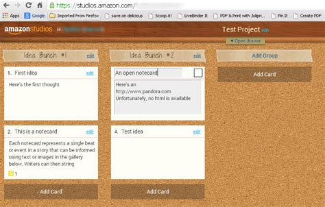 amazon storybuilder digital note cards organize your thoughts with drag and