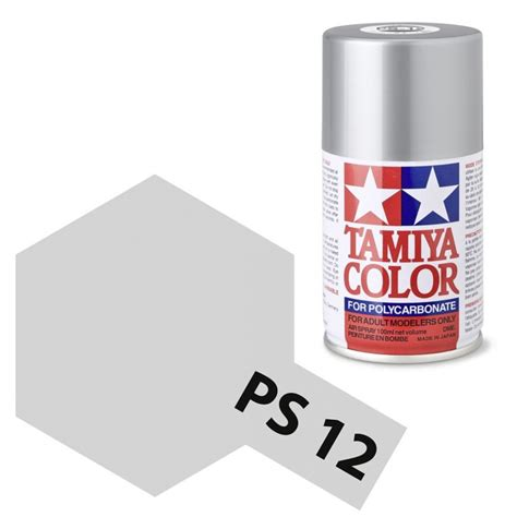tamiya color ps 12 silver polycarbonate spray 100ml