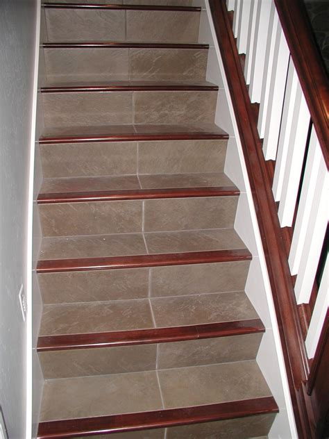 tile pattern on stairs tile stair treads pool modern with florida ivory patio