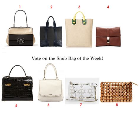 Web Snob The Bag Snob 5 by Vote On Your Favorite Bag Of The Week May 5th 2011 Snob