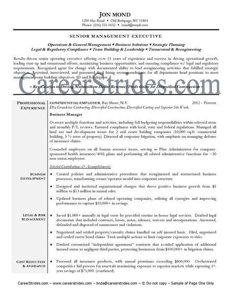 Resume Exles Business Management International Business Resume International Business Manager
