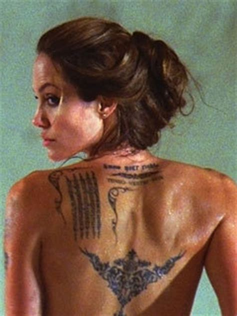 angelina jolie foot tattoo angelina jolie i thought about quitting acting celebsnow