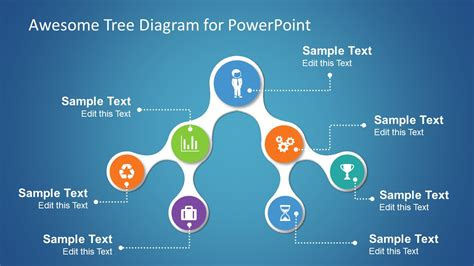 great powerpoint template simple tree diagrams data structure with icons slidemodel