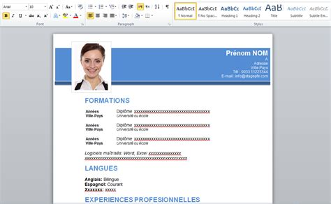 Modele Cv Word 2015 by Free Curriculum Vitae 2015 Word Stagepfe