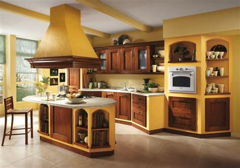 orange and yellow kitchen italian kitchen decor the charm of tradition