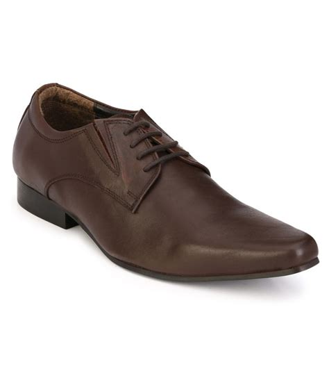 delize brown genuine leather formal shoes price in