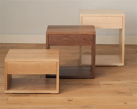 low bedside tables cube modern bedside drawer table natural bed company