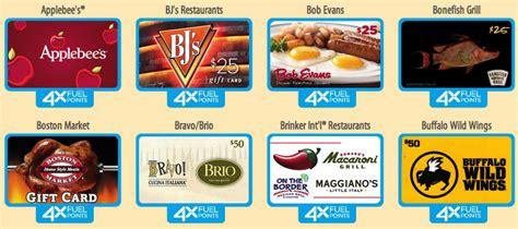 Kroger Fuel Rewards Gift Cards - kroger 4x fuel rewards when you buy restaurant gift cards kroger krazy