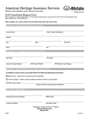 Insurance Gap Letter Read Book Gap Cancellation Request Form Great Lakes