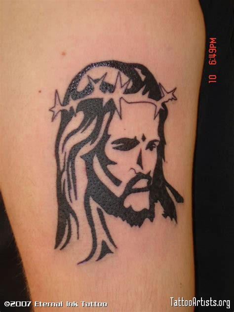 tribal jesus tattoo tribal jesus tattoos
