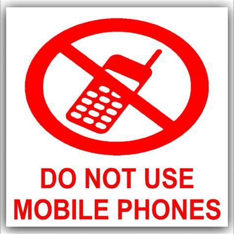 Sticker Mobil Sticker Mobil Be Safe Jdm 1 x do not use mobile phones on white external self adhesive warning stickers health and