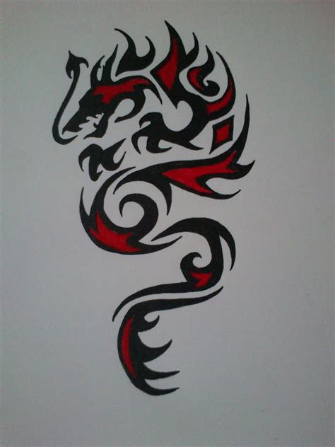 back dragon tattoo picture of tribal search