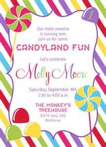 candyland shop invitation printable