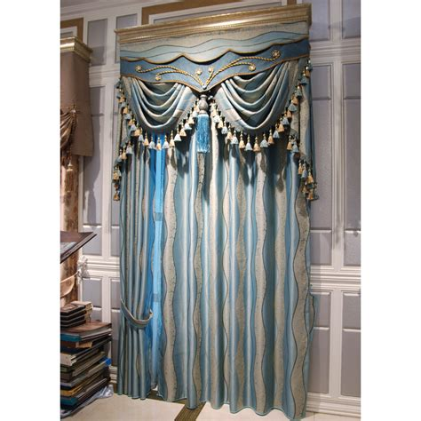 blue geometric drapes high end curtains window drapes custom curtains sale