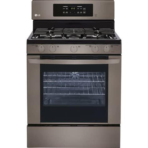 Oven Gas Stainless Steel lrg3081bd lg 30 quot freestanding gas range self clean