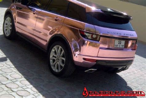 chrome range rover evoque pink chrome range rover evoque foiled in diablo