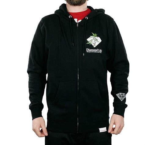 Hoodie One Diamend Clothing supply co home grown black skate streetwear black zip up hoodie new ebay