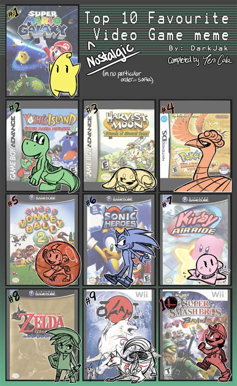 Top 10 Video Game Memes - top 10 favorite nostalgic video games meme by tenicola on deviantart